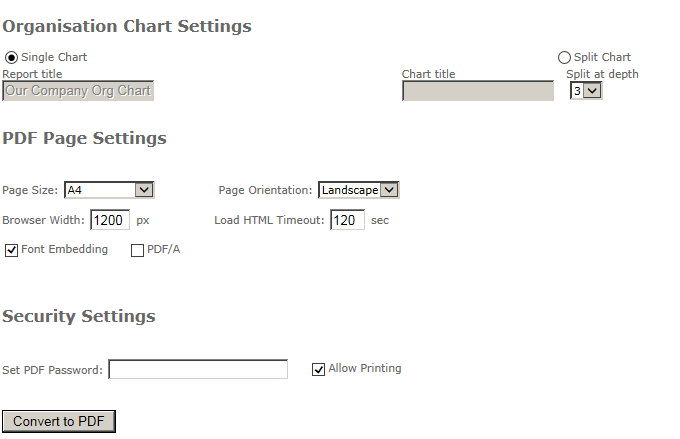 Printing your Org Chart - PDF | SharepointOrgChart